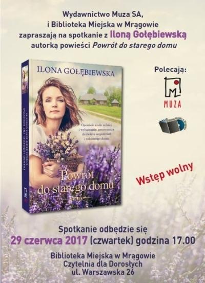 Spotkanie z pisarką Iloną Gołębiewską