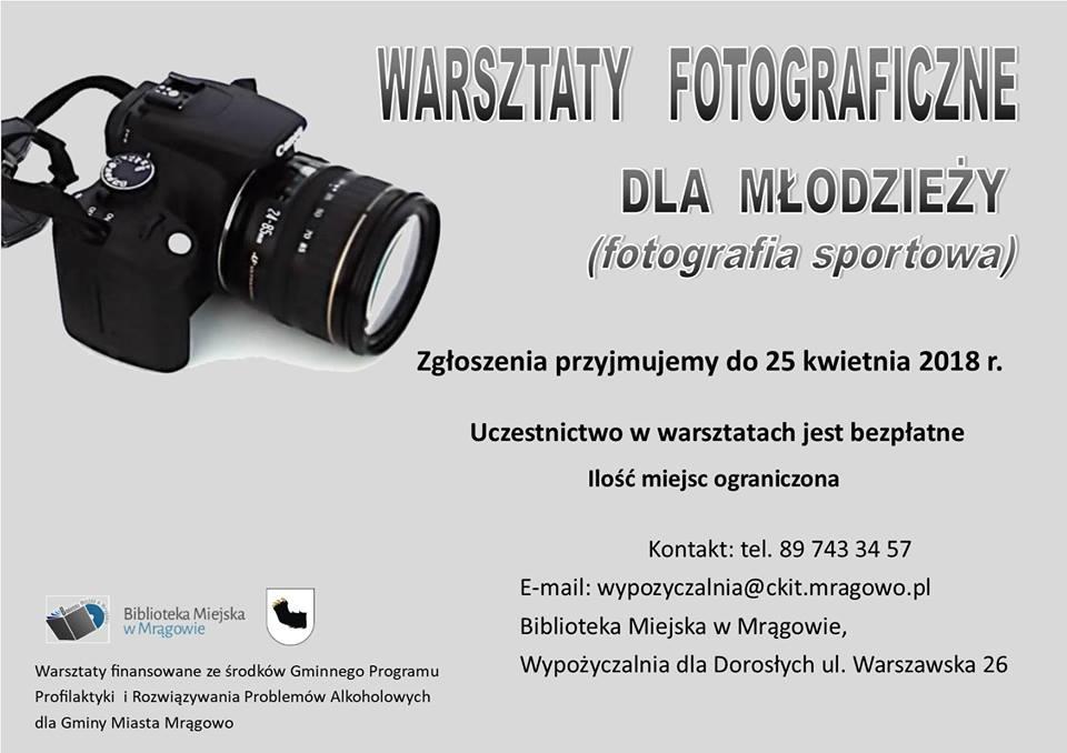 Fotografia sportowa - warsztaty dla młodzieży