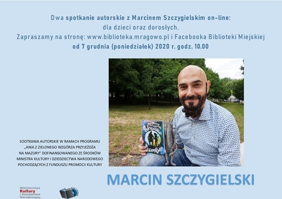 Spotkania autorskie on-line z Marcinem Szczygielskim