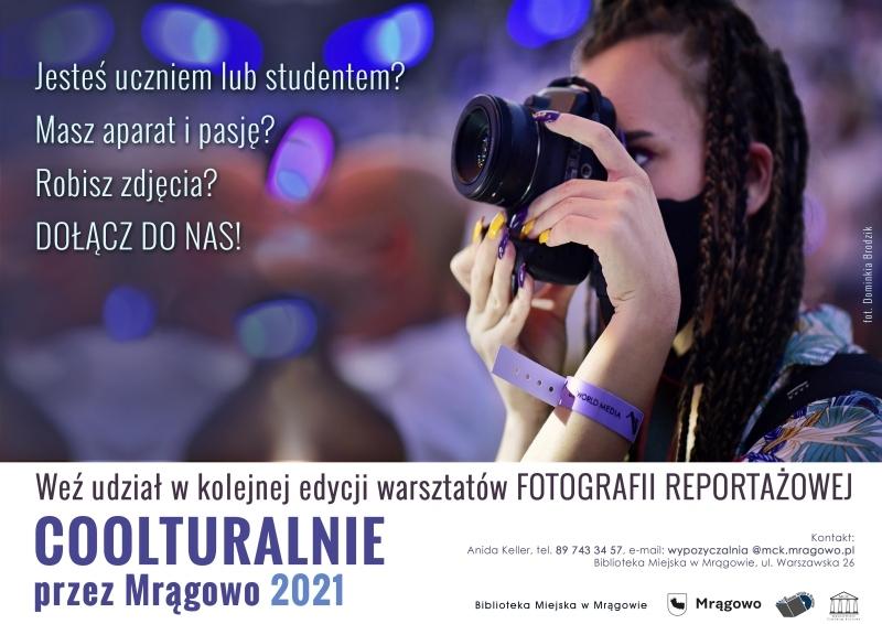 Coolturalnie przez Mrągowo 2021 - warsztaty fotografii