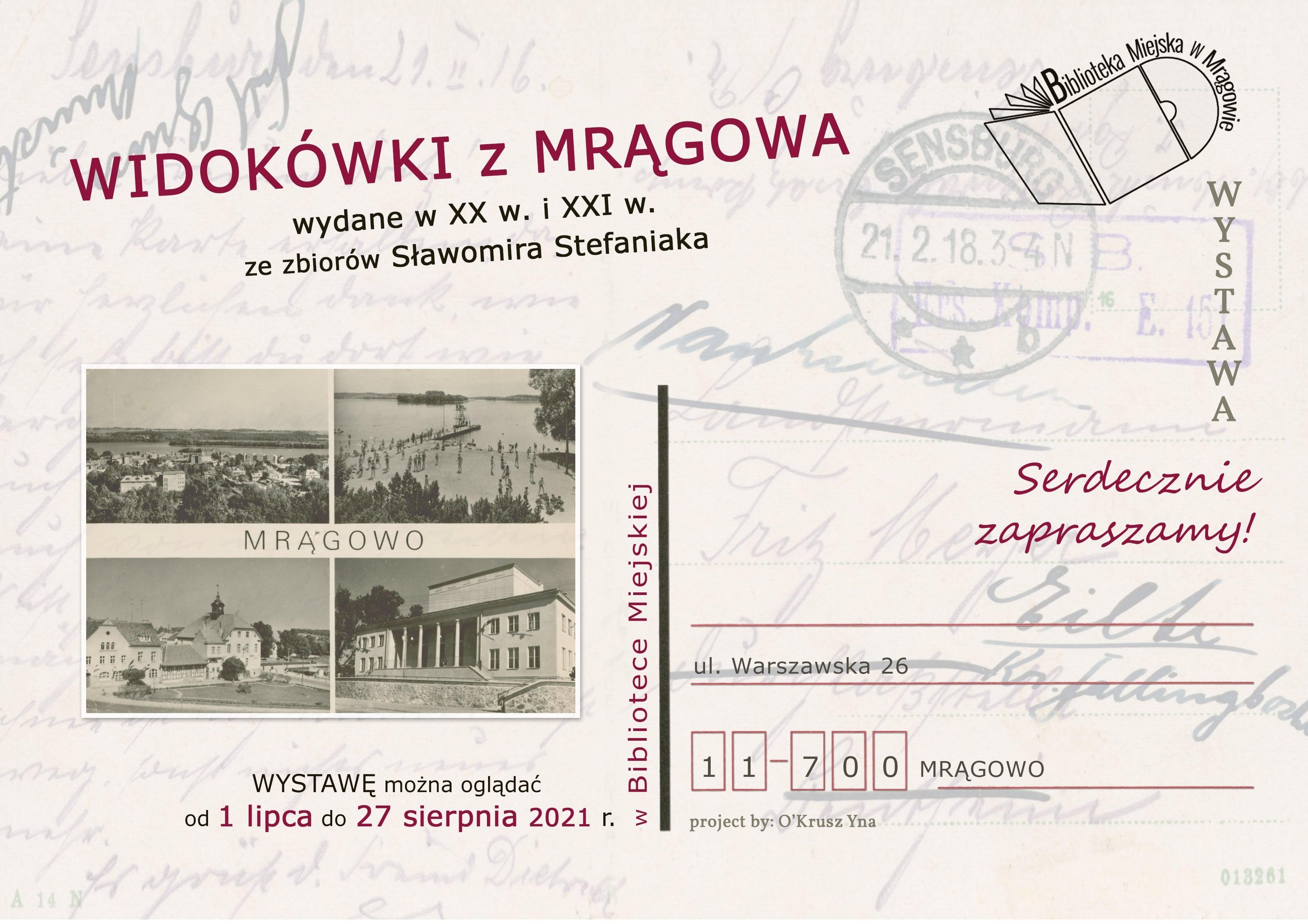 """""""Widokówki z Mrągowa"""" - wystawa"""